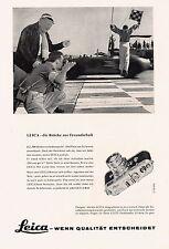 1958 Leica Kamera Autorennen Freundschaft 14x20 cm original Printwerbung