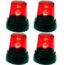 4x LED Signallampe Rot Rundumlicht Partylicht Discolampe Diskolampe Partyleuchte