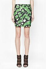 NWT French Connection FCUK $148 Animal print skirt Green Black Multi sz S 4 - 6