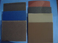 LOT OF 30 PIECE 1/4 SHEET ASS'T INDUSTRIAL CLOTH BACKED PALM SANDER SANDPAPER