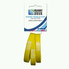 Rugby World Cup 2015 wristbands - set of 3 - Yellow