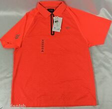 Lacoste Sport Men's Polo Shirt Zipper Bright Orange Diamond Design NWT Size 2XL
