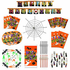 Ultimate Kids Happy Halloween Party Decoration & Tableware Set