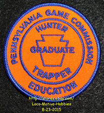 LMH PATCH Badge  PA GAME COMMISSION  Hunter Education  TRAPPER GRADUATE  Hunting