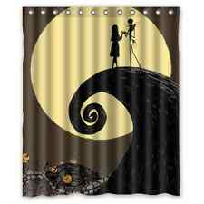 Hot New Design Custom Halloween Nightmare Before Christmas Shower Curtain 60x72