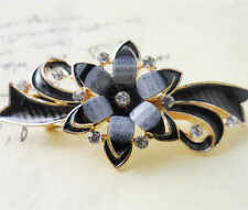 60MM crystal resin Flower hair barrette clip Hairpin  SF317