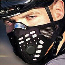 1PC Cycling Activated Carbon Sport Anti-pollution Black Half Face Mask Cover