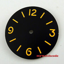 34.5mm black sterile dial orange marks fit ETA 6497 movement Watch Dial D48