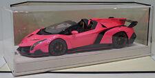 MR 1/18 Lamborghini Veneno Roadster Gloss Met. Pink Alcantara Base Ltd 25pcs