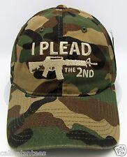 I Plead The 2nd Ball Cap Pro Gun US Second Amendment Unconstructed Dad Hat Camo