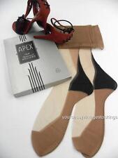 """SASSY 3 Pr APEX TOUJOURS BLACK POINT HEEL SEAMED Vintage Nylon Stockings  10/32"""""""