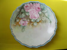 Limoges B-H 1890 France Pink Roses Hand Painted Porcelain By  Blakeman&Henerson