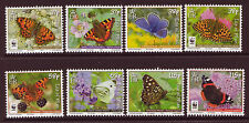 ISLE OF MAN 2011 BUTTERFLIES SET OF 8 UNMOUNTED MINT, MNH