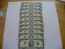 10 SEQUENTIAL $2 FED RESERVE NOTES-SERIES 2003-SHARP, CRISP, CLEAN, UNCIRCULATED