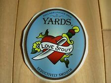 YARDS Brewing Sticker Decal LOVE STOUT craft beer Philadelphia brewery