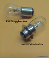 Headlight 6v 25w/25w & Taillight Bulb for Honda CT70 CT70H  S65  ATC 70-110