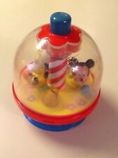 Vintage Disney Press and Spin Mickey Mouse Baby Toy Arco Donald Duck Pluto