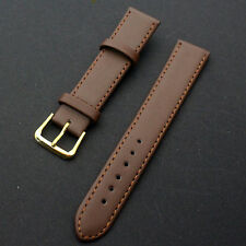 Nice Unisex Soft Genuine Leather Watch Bracelet Strap Band Replacement 16-22mm