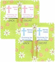 20 PERSONALISED CHRISTENING BAPTISM CUP CAKE FLAG Food Topper Boy Girl Blessing