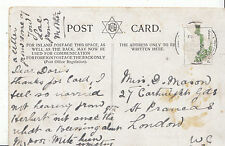 Genealogy Postcard - Family History - Mason - St Prancas - London W.C.  A977