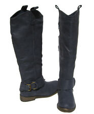New Women's Fashion Knee High Navy Blue Riding Boots winter snow Ladies size 6