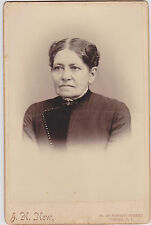 ANTIQUE VICTORIAN WOMAN J.H, NEW COHOES N.Y. CABINET PHOTO