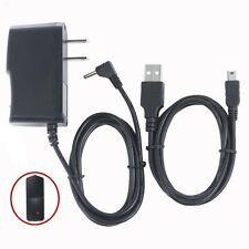 2A AC/DC  Wall Power Charger Adapter + USB PC Cord for Coby Kyros MID7012 Tablet