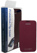NEW OEM ORIGINAL SAMSUNG GALAXY NOTE 2 II FLIP COVER FOLIO BOOK CASE RED WINE