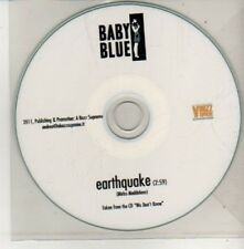 (CM543) Baby Blue, Earthquake - 2011 DJ CD