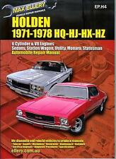 Workshop Manual for Holden HQ/HJ/HX & HZ from 1971-1978 with MPN EP.H4