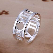 925 STRIKING SILVER ROMAN TIME TRAVELLER RING CHRISTMAS DAY GIFT LOVERS TOKEN