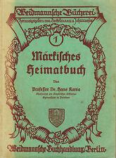 Kania, Märkisches Heimatbuch, Mark Brandenburg Ergänzungsband z Dt Lesebuch 1925