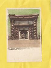 15th Century CARVED OAK MANTELPIECE in  BALLROOM , ILAM  HALL ,  DERBY   ( 26d )