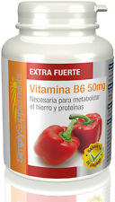 SimplySupplements Vitamina B6 50mg | 360 Comprimidos (E466)