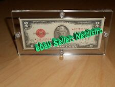 5 Single Acrylic Bank Note Money Currency Display Dollar Frame Holder Cases
