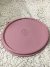 Vintage Tupperware replacement lid 227 press and seal top lid Country pink