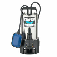 Clarke Stainless Dirty Water Submersible Pump.Max Rate 258 l/min,900W, PSSV2A