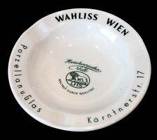 WAHLISS WIEN Vintage HUTSCHENREUTHER Souvenir Advertising Porcelain Ashtray