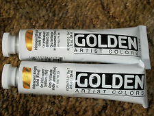 Golden Acrylics 2-ounce 2 tubes Paint Iridescent Bright Gold Fine