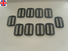 10 x 40mm black plastic buckle slider (3 bar slider ) for Webbing strap