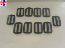 10 x 40mm black plastic buckle slider (3 bar slider ) for Webbing strap