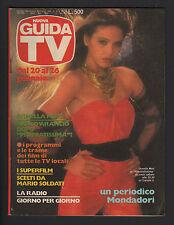 NUOVA GUIDA TV MONDADORI 3/1985 ORNELLA MUTI LIZ TAYLOR PROGRAMMI TV LOCALI