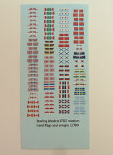 Naval flags and ensigns for modern ships 1/700