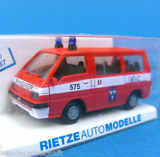 Rietze H0 50203 MITSUBISHI L 300 Bus Brandweer Papendrecht NL OVP HO 1:87 Box