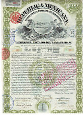 Mexico: Republica Mexicana 1907 Estado de Tamaulipas  not Cancelled / Coupons