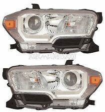 TOYOTA TACOMA CHROME 2016 HEADLIGHTS HEAD LIGHTS FRONT LAMP W/O DRL PAIR SET