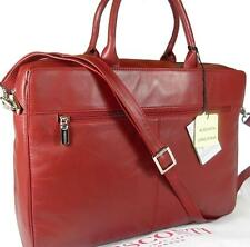 NEW LADIES VISCONTI DARK RED LEATHER LAPTOP BRIEFCASE BAG FREE UK P&P