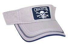 NEW Calcutta Fishing Visor Light Gray w/Blue & White Logo BRS114054