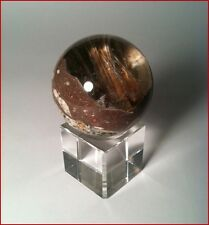 Crystal Ball Sphere Multi-Mineral Specimen - Collectors Item + Pyrite Nodule