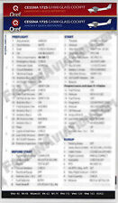 Cessna 172S G1000 Skyhawk Quick Reference Aircraft Checklist Card by Qref